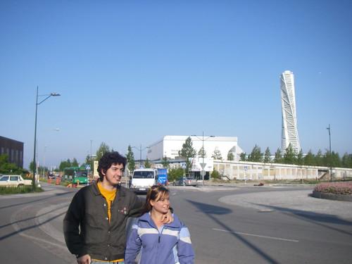 Andrew y yo con el Turning Torso detrás
