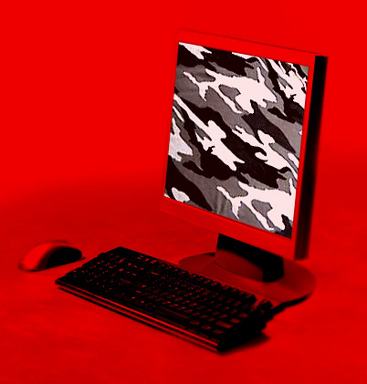 Computer in fatigues
