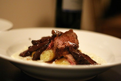 Spiced Duck with Cauliflower Puree and Kipfler Potatoes