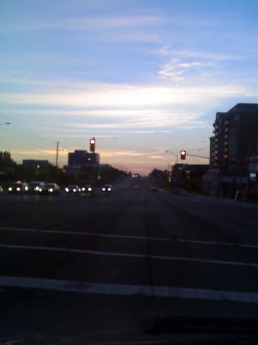 Saturday 6:45 am on Hwy 7