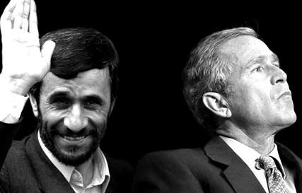 Ahmadinejad and Bush Jr