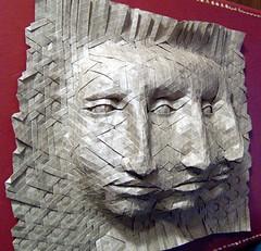 Joel Cooper Origami Tessellation Masks Three Faces