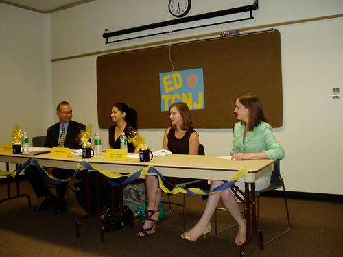 Mr. Birritteri, Ms. Scott, Ms. Nichols, and Ed@TCNJ president, Tammy Tibbetts