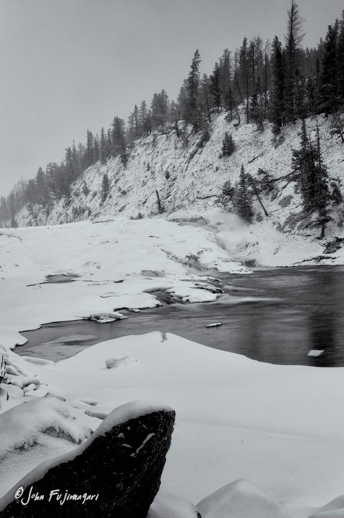 Bow Falls In Winter