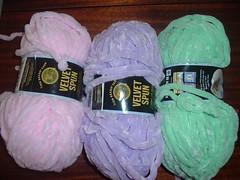 Spun Velvet Chenille yarn