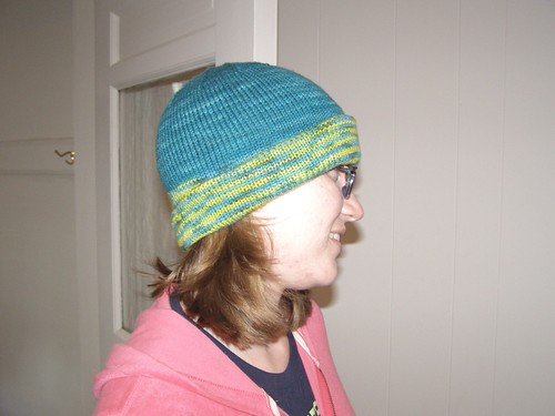 Me, modeling my hat