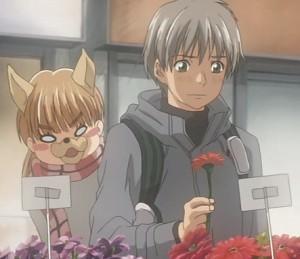 Takemoto and doggy Yamada
