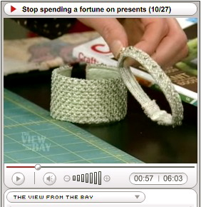 Needlepoint Bracelets on TV (by Brian Sawyer)
