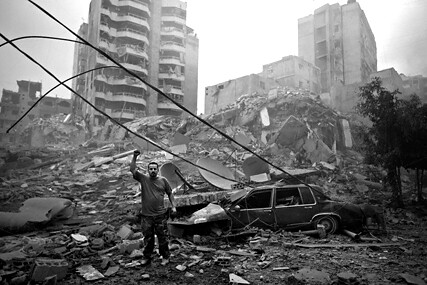 Man in southern suburb of Beirut 13 July 2003