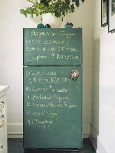 DIY Refrigerator Chalkboard