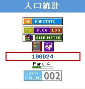 100,000個pageloads