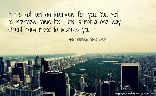 The Best Job Interview Advice