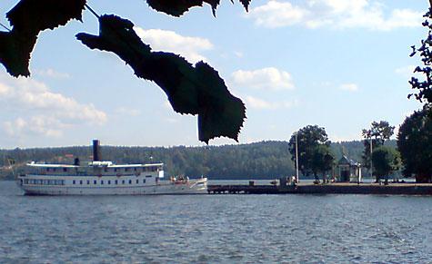 Båten till/från Mariefred och Stockholm