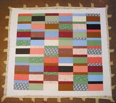 Lauren's quilt: layering