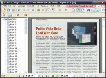 Foxit PDF Reader Screenshot