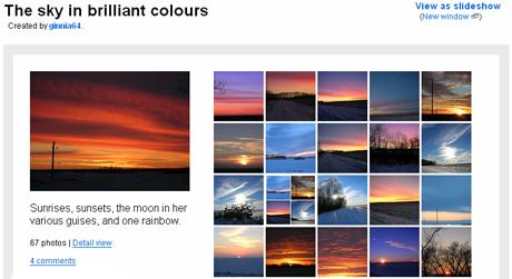 Sky in brilliant colours