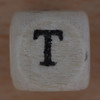 Wooden bead letter T