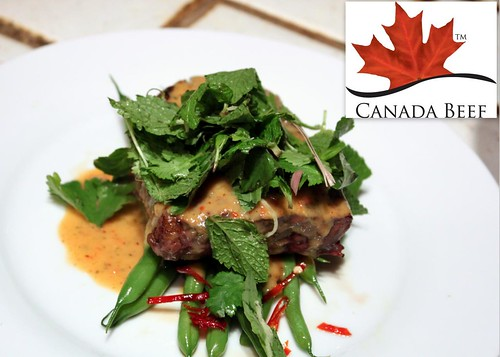Chef Adam Hynam-Smith's Beef with Thai Coconut Red Curry Haricots Verts and Herb Salad