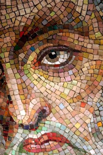 Mosaic Smalti Face Detail Mosaic Art Source