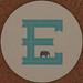 MAGPIE coaster letter E