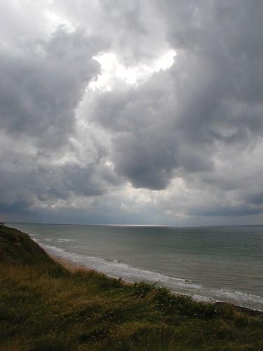 En regntung himmel over Vesterhavet