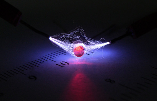 High Voltage Over and Through Red LED
