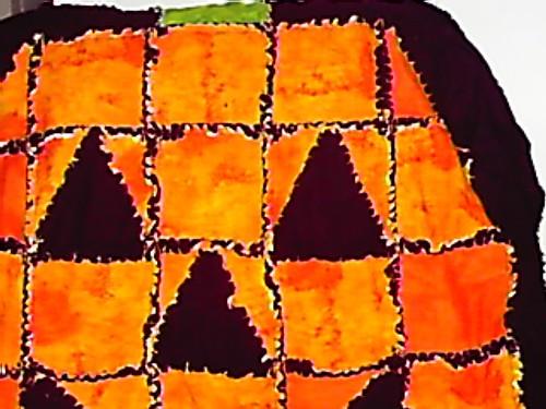 close up quilt pumpkin