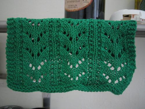 first dishcloth