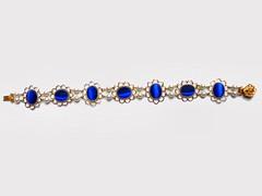 Cat's Eye and Pearl Renaissance Bracelet
