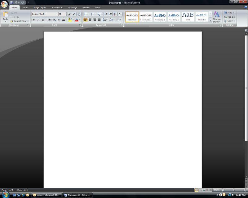 MS Word 2007 Beta 2 TR