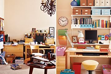 A Home Office Gets Organized