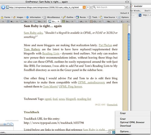 Firefox OPML Autodiscovery plugin