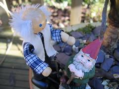 Grandad consults the gnome