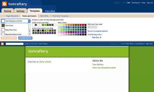 New Blogger format screen