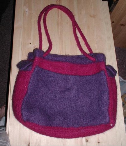 felted sheep tote