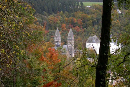 De kerk van Clervaux
