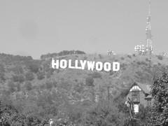 Letras de Hollywood en el monte
