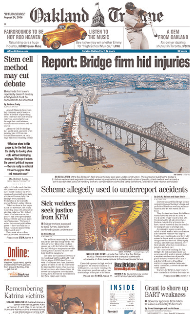 Tribune August 24 Front Page