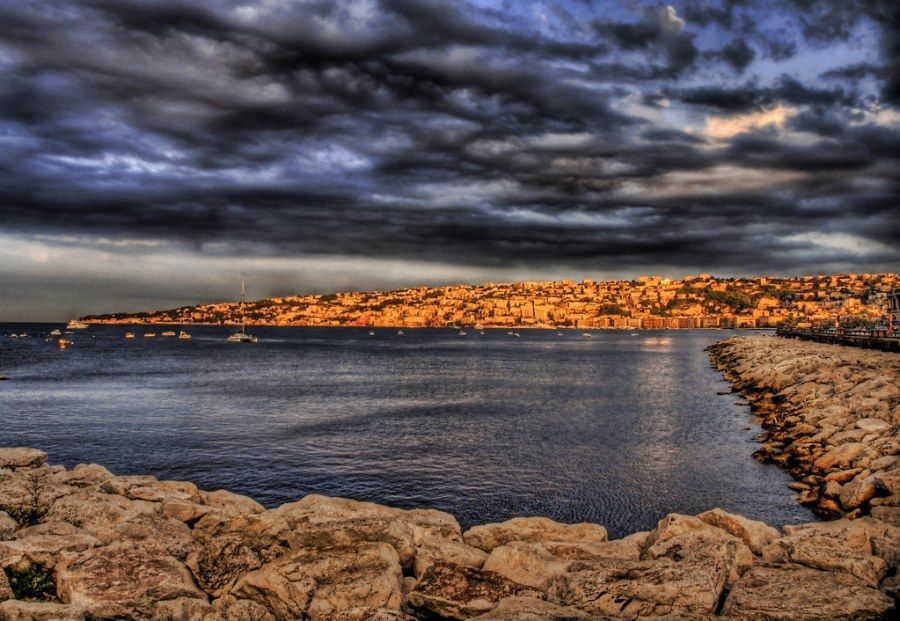 Morning Sunlight Across Naples Coast