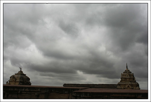 Stupas and Clouds - Original