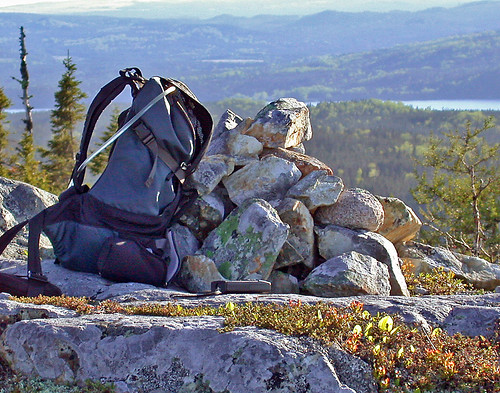 Backpack Enjoying the View