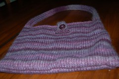 Purple Knitted Purse 1