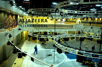 Preperations for launch of Al Jazeera International Doha Mar 9 2006