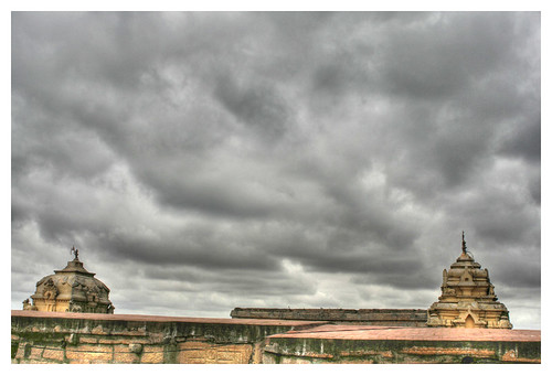 Stupas and Clouds - HDR