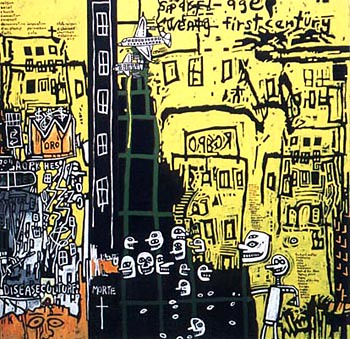 Gordon Bennett - Notes to Basquiat - Urban Renewal 2002