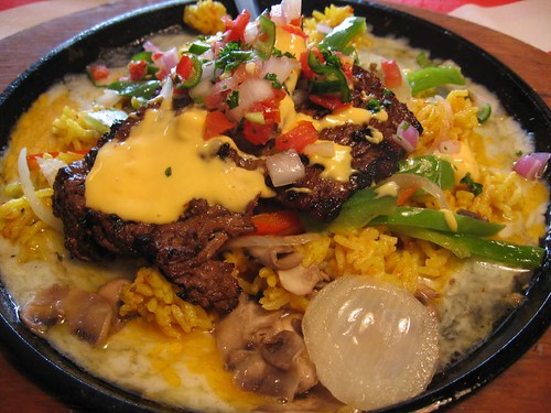 sizzling cheese steak from T.G.I. Friday's