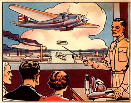 A bubble gum card - Uncle Sam's Home Defense