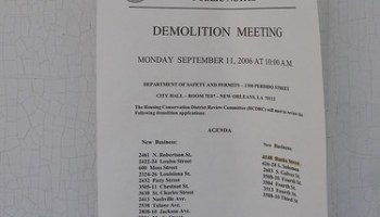 DEMOLITION NOTICE
