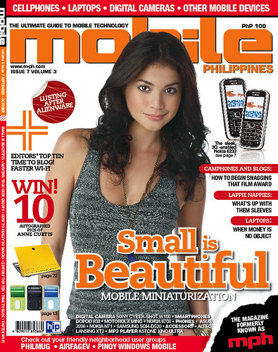 Anne Curtis graced the first issue of the shrunk Mobile Philippines magazine