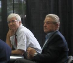 USC Annenberg Dean Geoffrey Cowan, George Soros